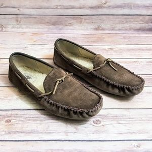 UGG Driving Loafer Leather Moccasin Slippers